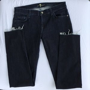 New 7 For All Mankind frayed hem Roxanne Jeans